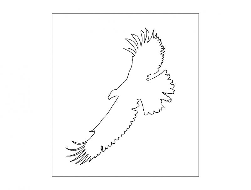 Flying Eagle Logo Free DXF File
