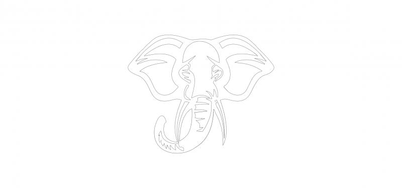 Jungle Animal Elephant Free DXF File