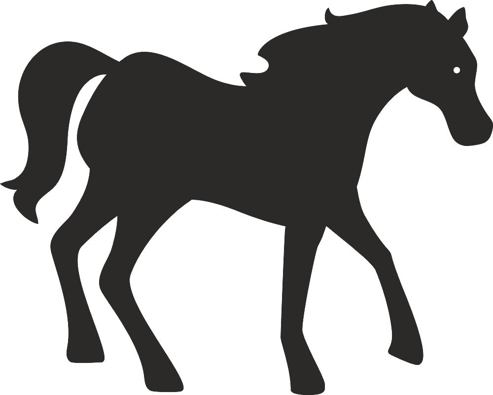 Free Horse Standing Silhouette DXF File