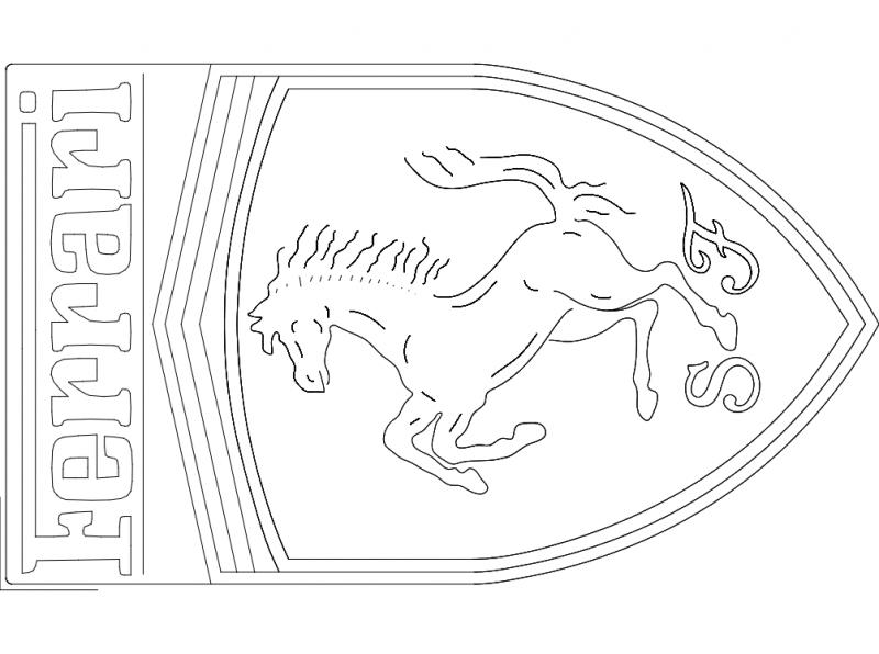 Ferrari Logo Free DXF File
