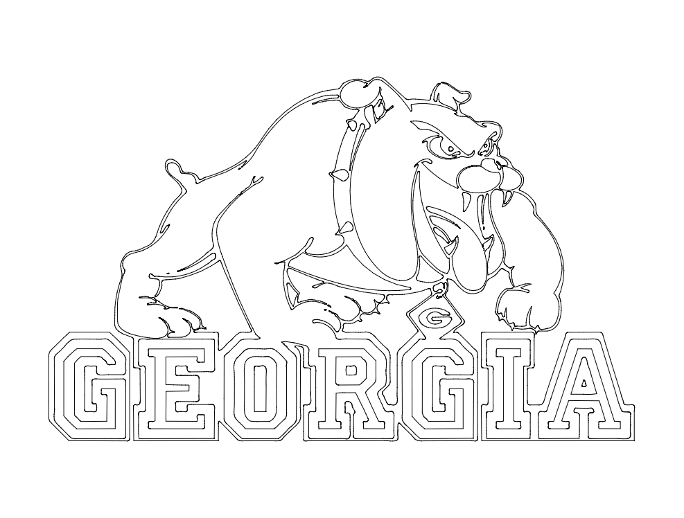 Georgia Bulldogs Logo Free DXF File