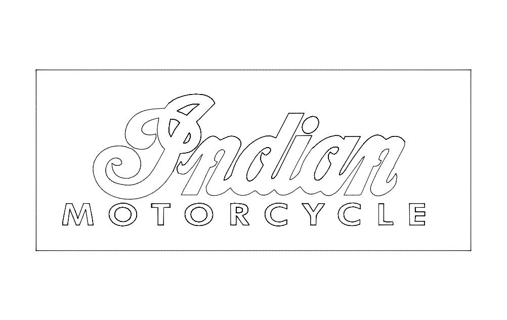 Indian Motorcycle Logo Free DXF File