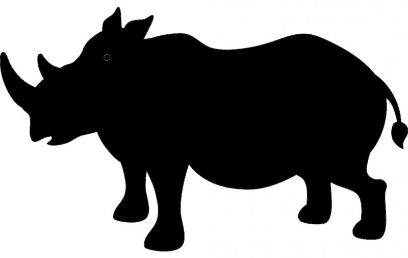 Rhino Silhouette Free DXF File