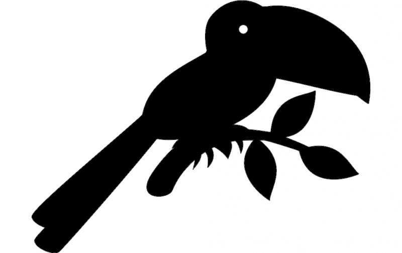 Toucan Silhouette Vector Free DXF File