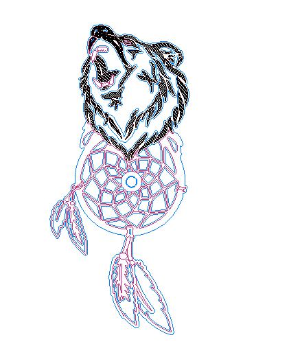 накладка под дверную ручку медведь Free DXF File