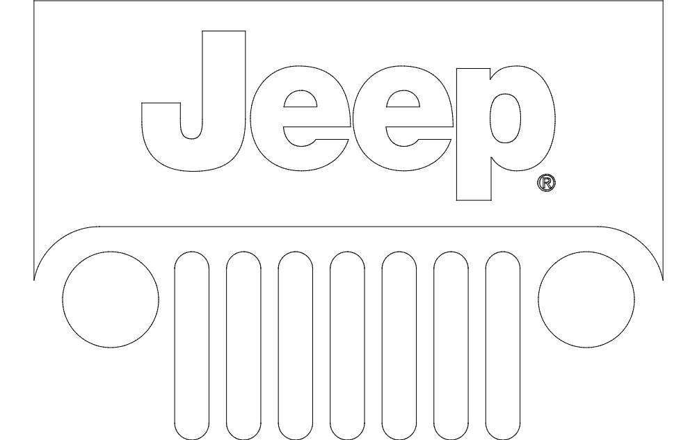 Jeep Logo Free DXF File