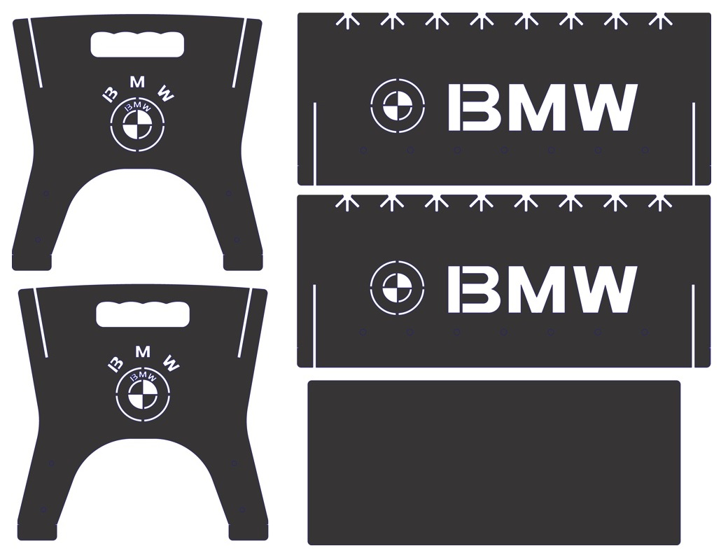 Laser Cut Portable Bbq Grill With Bmw Logo Free DXF File
