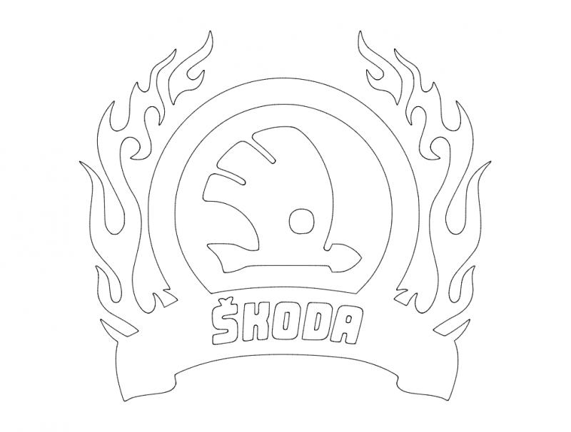 Skoda Logo Free DXF File
