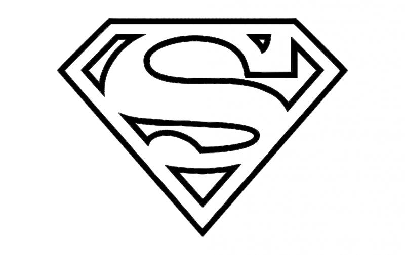 Super Man Logo Free DXF File