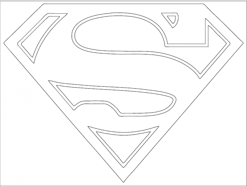 Superman Symbol Logo Free DXF File