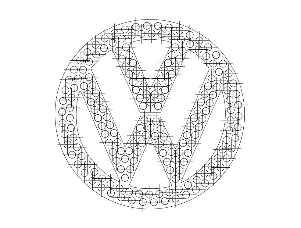 Vw Logo Vector Free DXF File