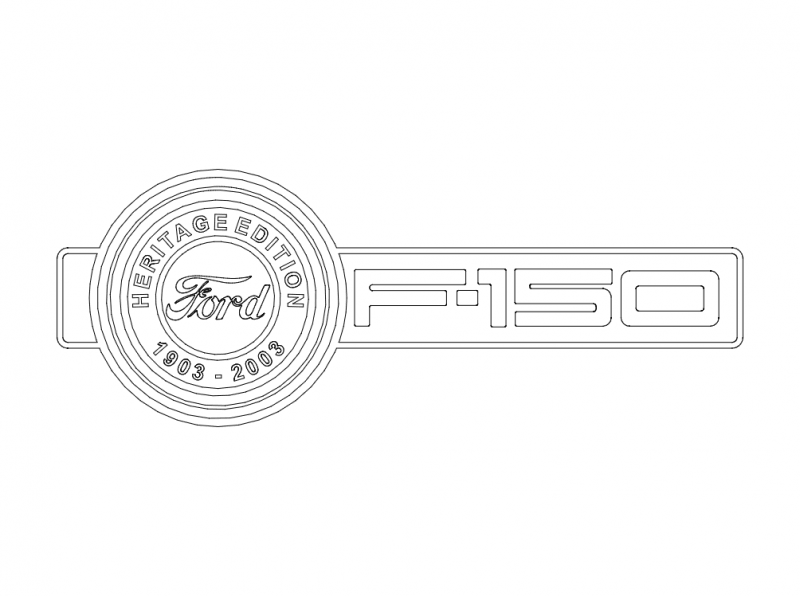 Ford Heritage Logo Free DXF File