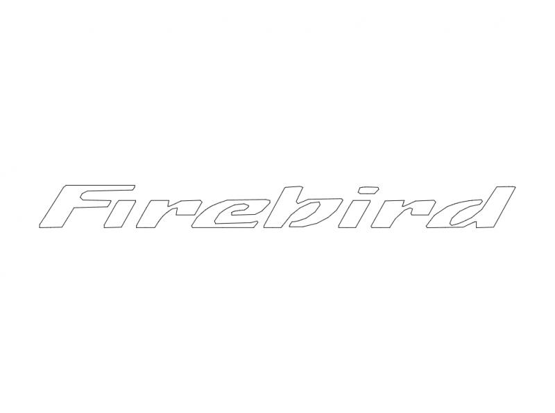 Firebird Logo Free DXF File