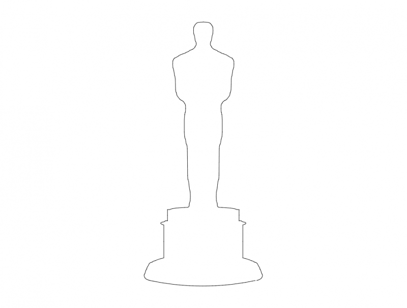 Oscar Logo Free DXF File
