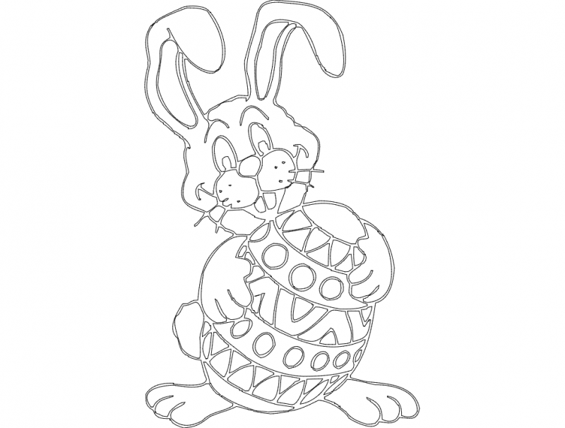 Osterhase (rabbit) Free DXF File
