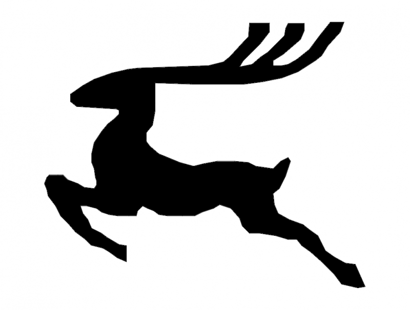 Reindeer Silhouette Free DXF File