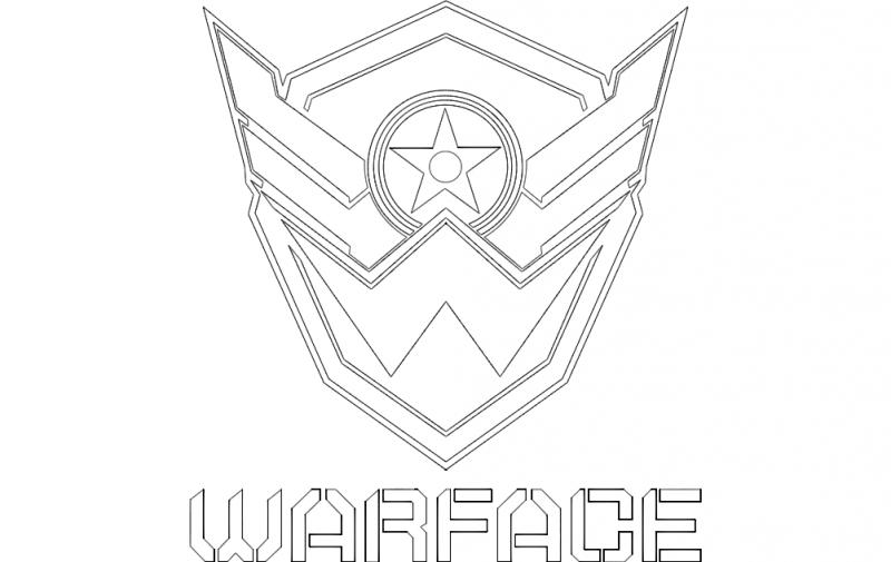 Warface Logo Free DXF File