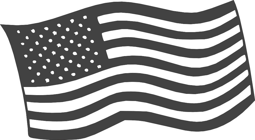 Free American Flag Logo DXF File