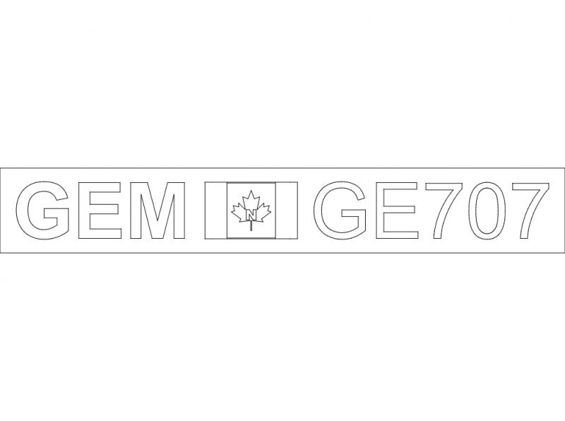 Gemini Sink Logo ge707 Free DXF File