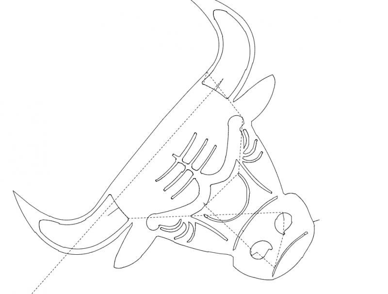 Bull Head Free DXF File