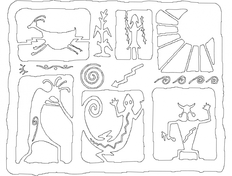 Collage Free DXF File
