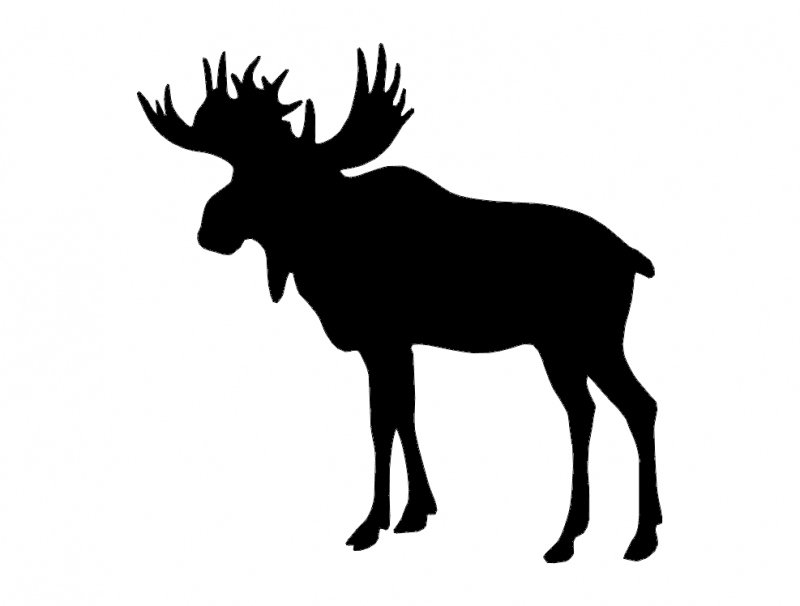 Elk Standing Silhouette Free DXF File