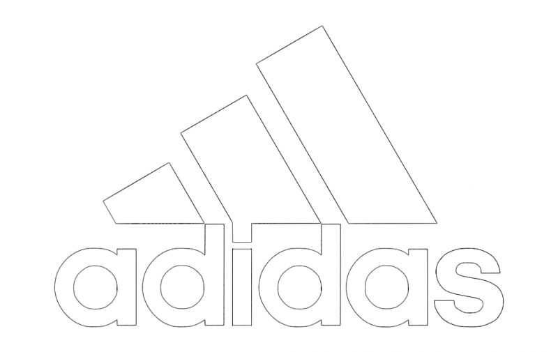 Adidas Logo Vector Free DXF File