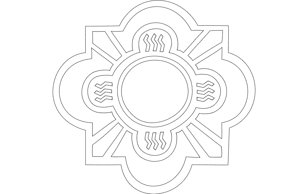Clock Face Free DXF File