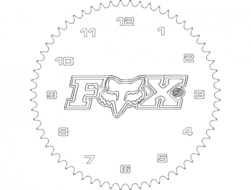 Fox Mx Clock Free DXF File