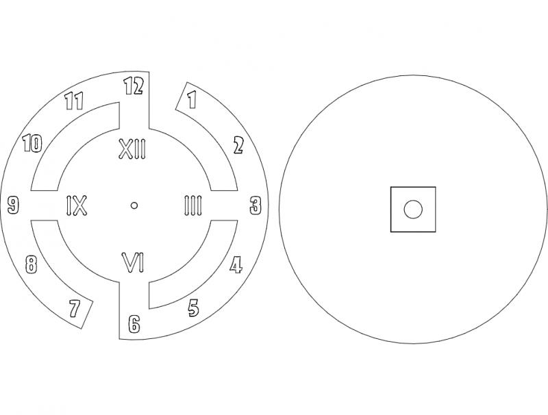 Saat Clock Designs Free DXF File