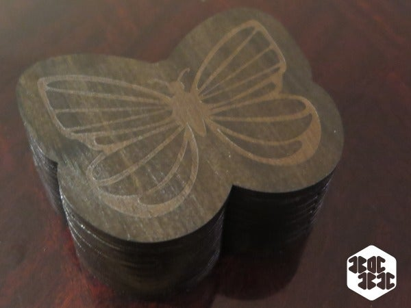 Laser Cut Butterfly Box With Lid Free DXF File