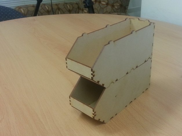 Laser Cut Narrow Stackable Boxes Free DXF File