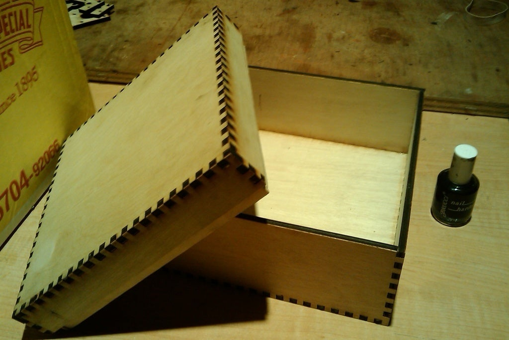 Laser Cut Small Box Template 5mm Marine Plywood Free DXF File