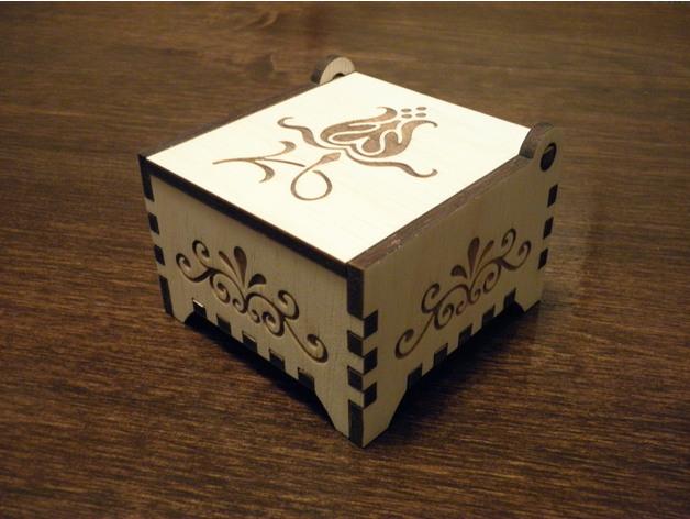 Laser Cut Small Wooden Box Trinket Box Free DXF File