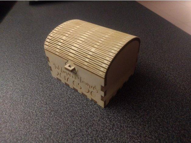 Laser Cut Wedding Ring Box 3mm Plywood Free DXF File