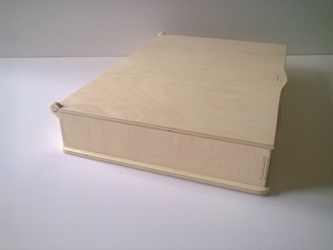 Laser Cut Wooden Box With Lid Free DXF File