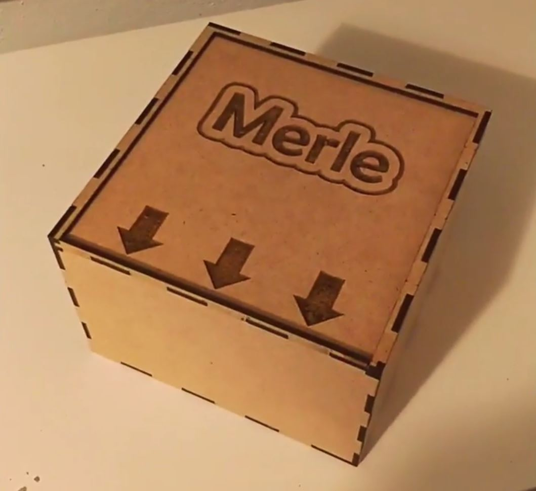 Laser Cut Wooden Box With Sliding Lid 15x15x10 3mm Mdf Template Free DXF File