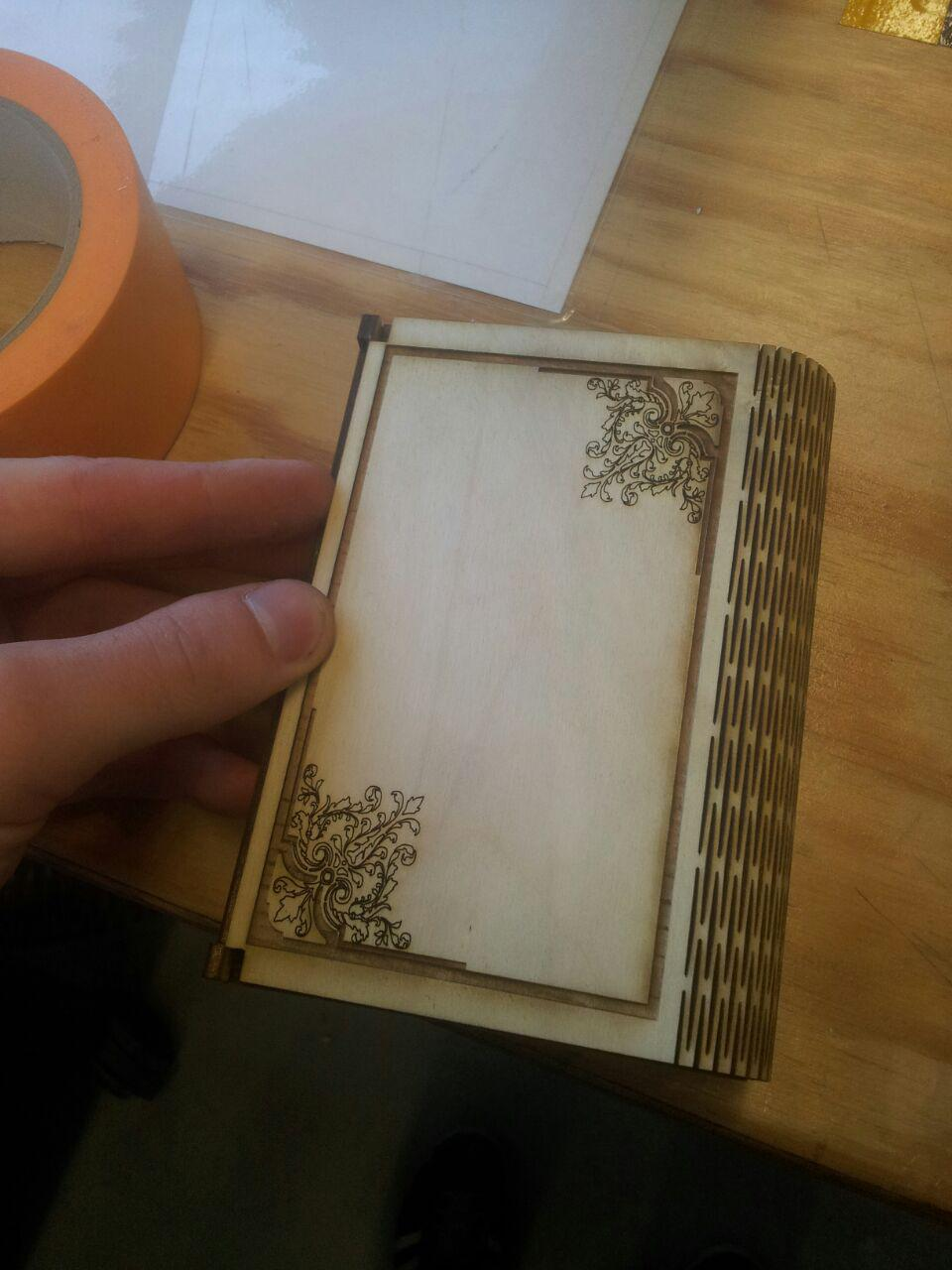 Laser Cut Wooden Flex Box With Engraving Free DXF File