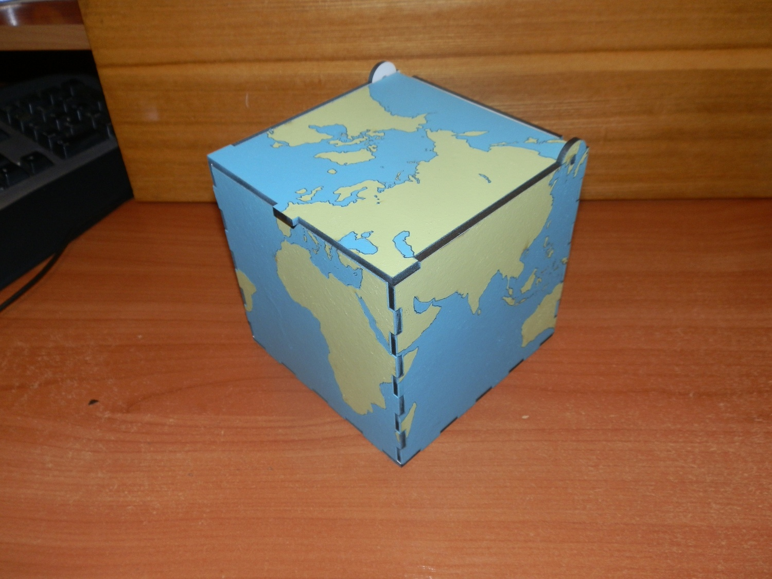 Laser Cut World Map Box Free DXF File
