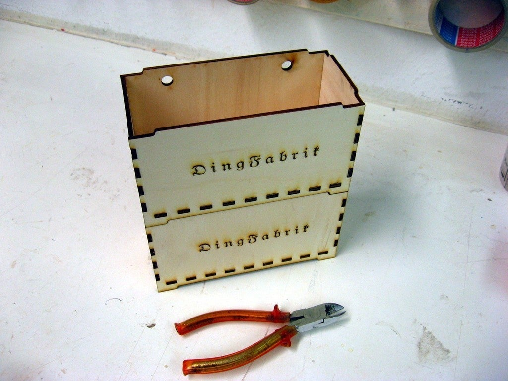 Stackable Box 4mm Plywood Laser Cutting Template Free DXF File
