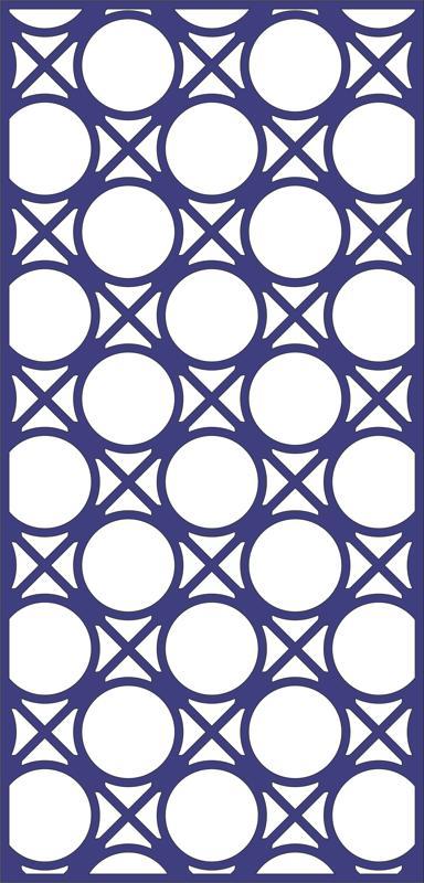 Design Of Decorative Circle Pattern Panel Free DXF File