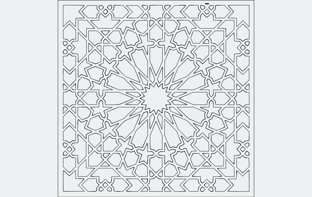 Grille Pattern Design 66 Free DXF File