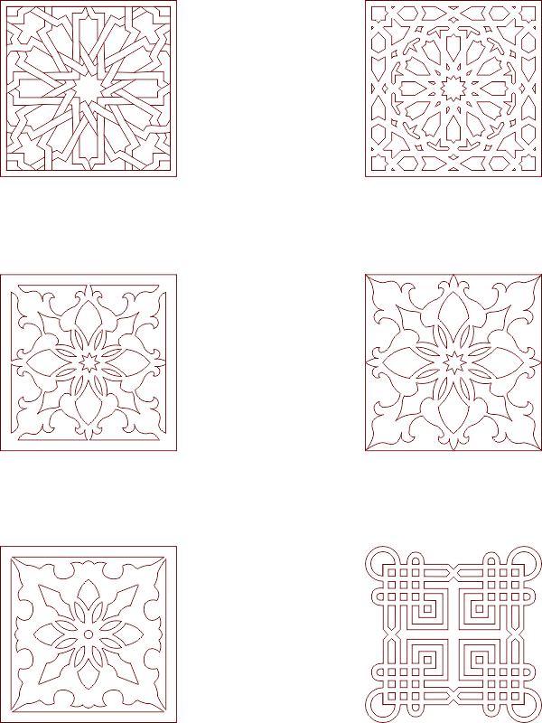 Moroccan Pattern Vector Art Free DXF File