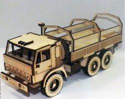 Cnc Laser Cut Truck Model Kamaz Free CDR Vectors Art