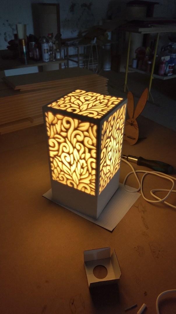 Laser Cut Pattern Lamp Free CDR Vectors Art