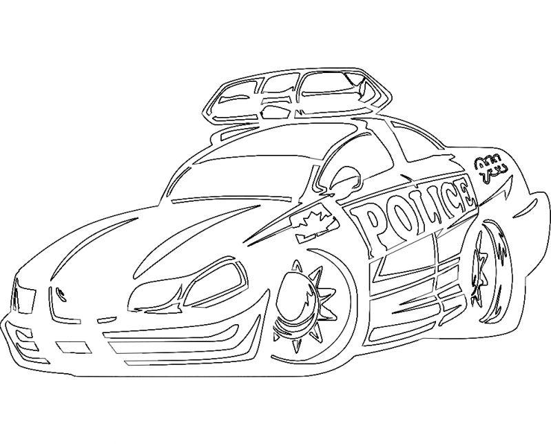 Car Sticker Police Hot Rodda Car Free DXF File