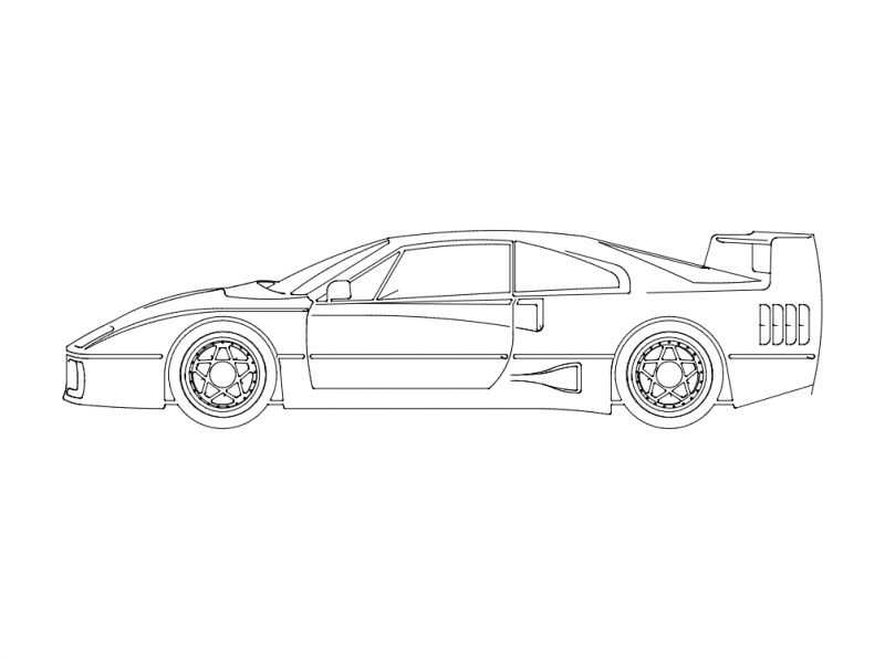 Ferrari Car Sticker Free DXF File