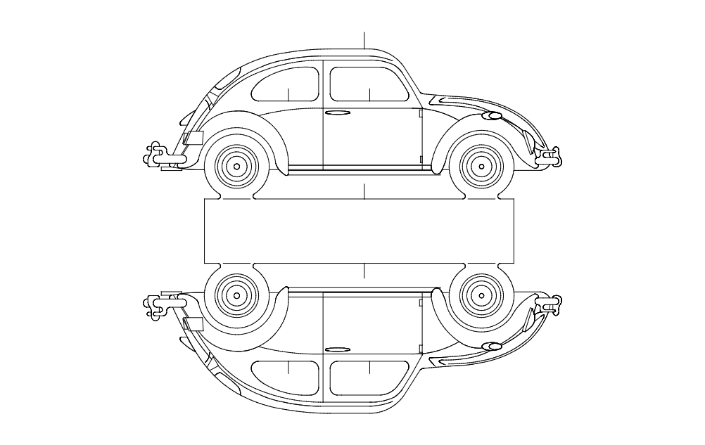 Vw 5 Car Free DXF File
