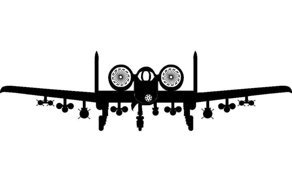 Aircraft a10 Aircraft Sticker Free DXF File