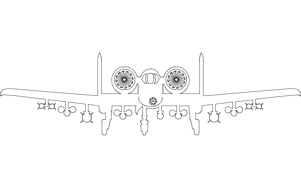 Aircraft a10 Free DXF File